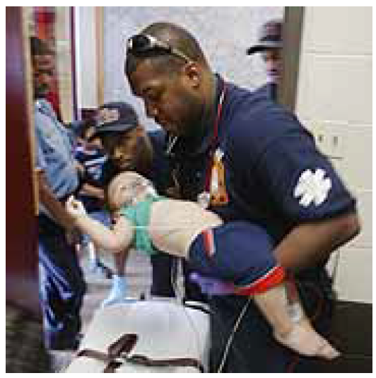 By Tim Dillon, USA TODAY    Washington, D.C., paramedic Carlton Pinkney tends to an infant who was choking. Despite efforts to improve, Washington has one of the lowest save rates among big-city emergency medical services.